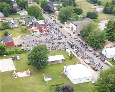 Aerial view of Melvin, MI (Photo credit: Scott's Studio)