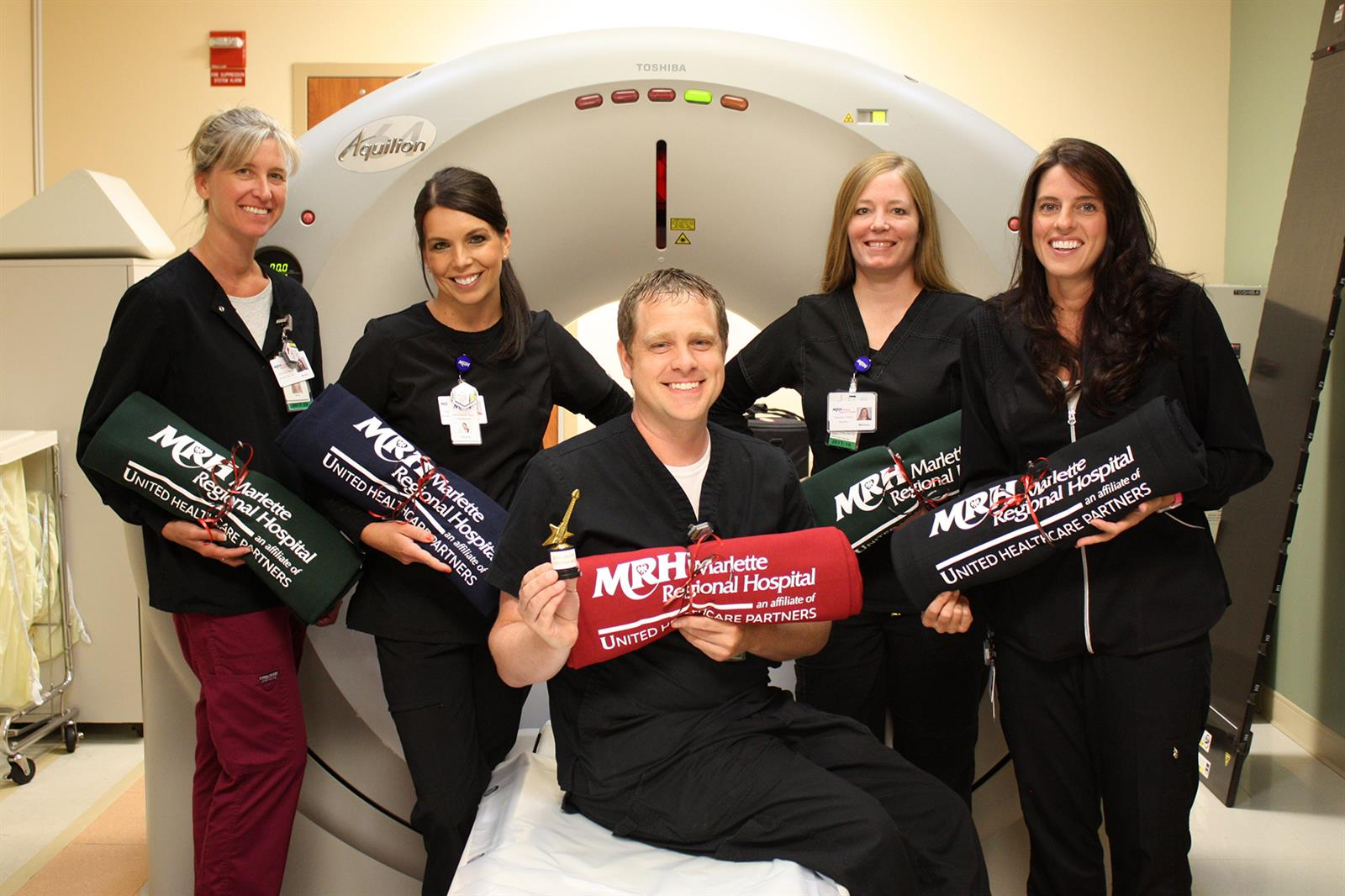 Marlette Regional Hospital's viral video Best Group Performance was awarded to their diagnostic imaging department.