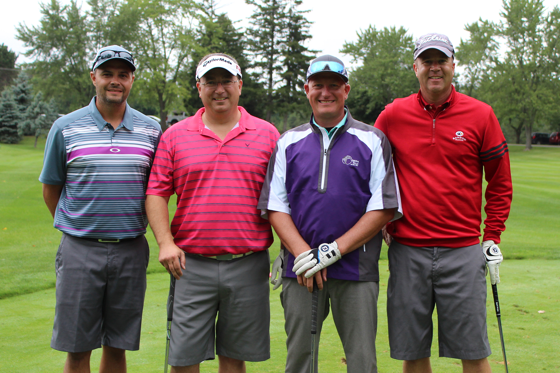 The winner of the men's division for the Marlette Regional Hospital Foundation's Driving for Health Golf Scramble was Marlette Roofing & Sheet Metal Co.