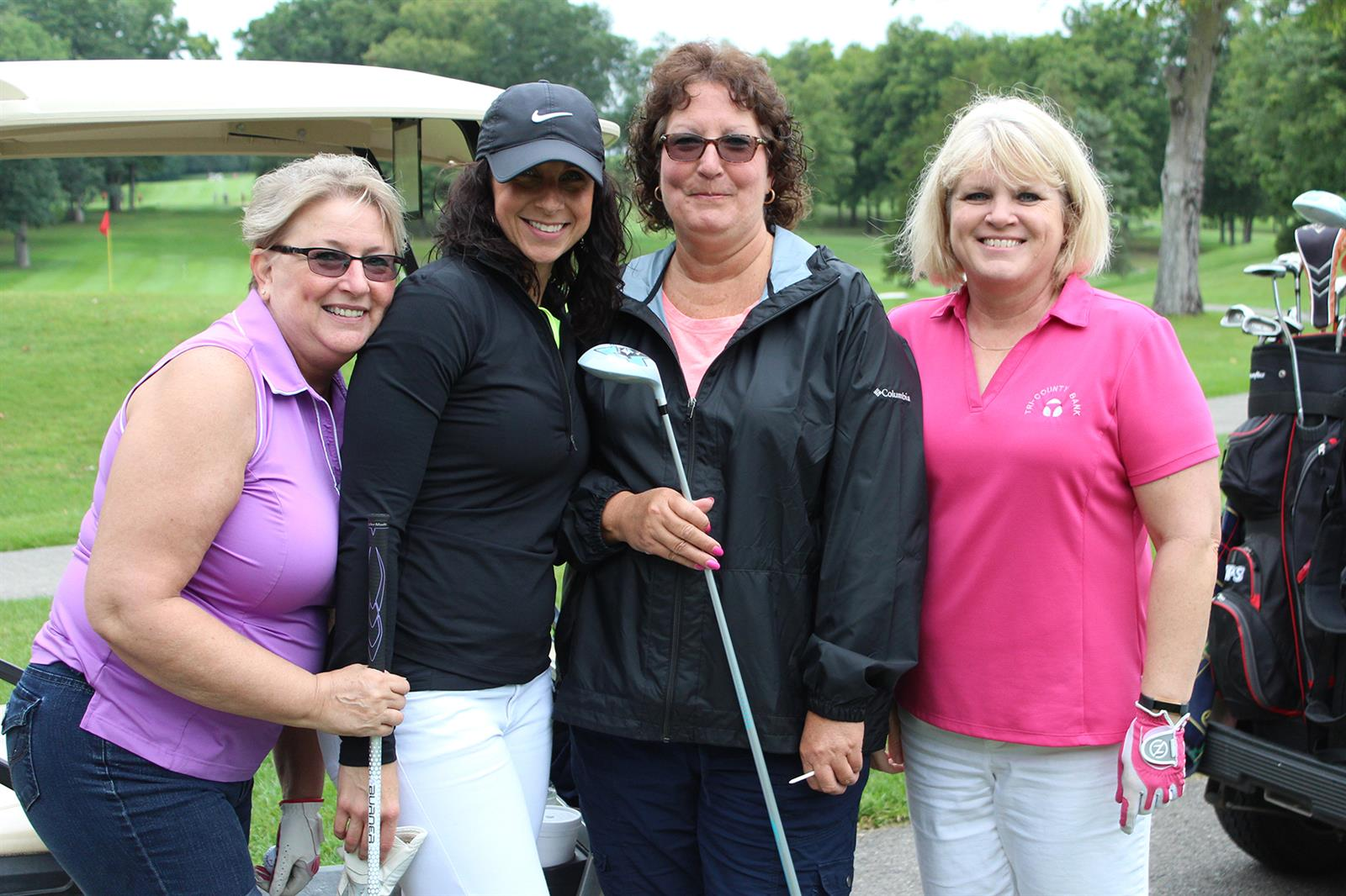 The winner of the women's division for the Marlette Regional Hospital Foundation's Driving for Health Golf Scramble was Tri-County Bank/Liebler Agency.