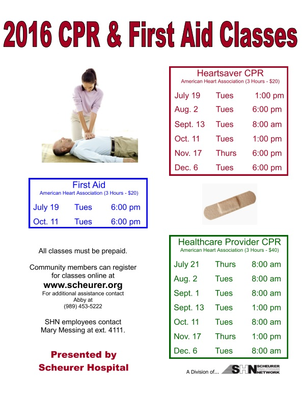 Scheurer Hospital Presents Aha Healthcare Provider Cpr Class